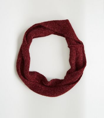 Burgundy Fluffy Chenille Snood