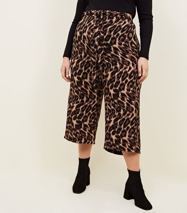 9ceb26c8a7c2 ... Curves Brown Leopard Print Cropped Trousers. ×. ×. ×. Shop the look