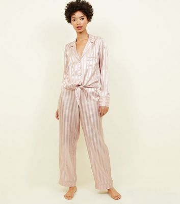 De Wishlist Ajouter Supprimer Rose La Rayé Pyjama En Pantalon Satin À E29HDIYW