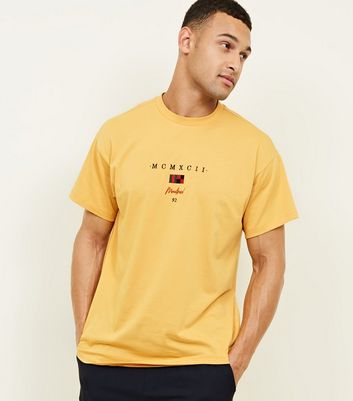 Yellow Montreal Embroidered T-Shirt
