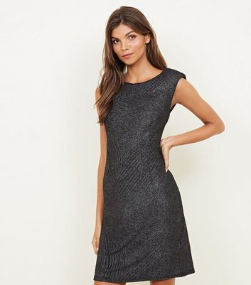 Mela Black Glitter Sleeveless Dress