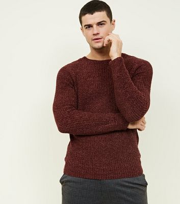 Burgundy Chenille Knit Jumper