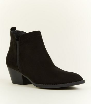 Black Pointed Western Chelsea Boots