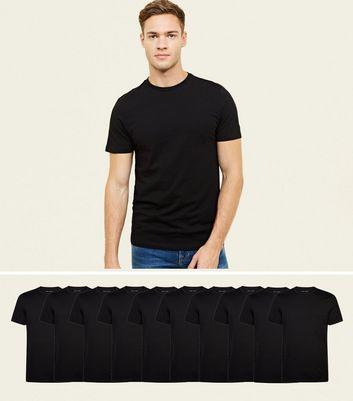 10 Pack Black Crew Neck T-Shirts