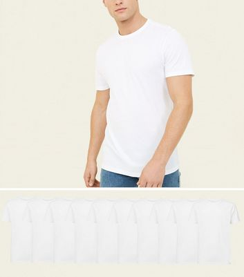 10 Pack White Crew Neck T-Shirts