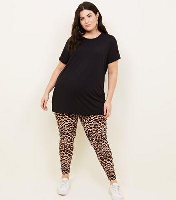 New Look Curves  Leopard Print Leggings