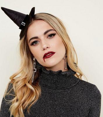 Black Witch Hat Headband
