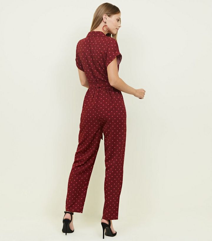 4fec53d4515 ... Red Geometric Print Twill Utility Jumpsuit. ×. ×. ×. Shop the look