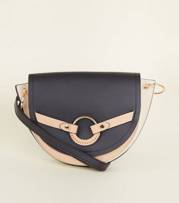 Black Ring Front Saddle Bag