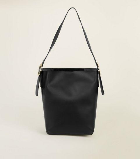 ... Black Buckle Strap Hobo Bag ... 64e3b38c7f6a8