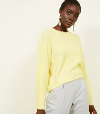 Yellow Long Sleeve Fluffy Jumper