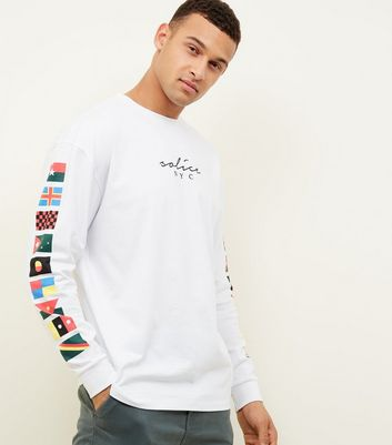 White Long Sleeve Solice NYC Logo T-Shirt