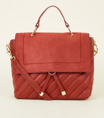 Rust Quilted Satchel