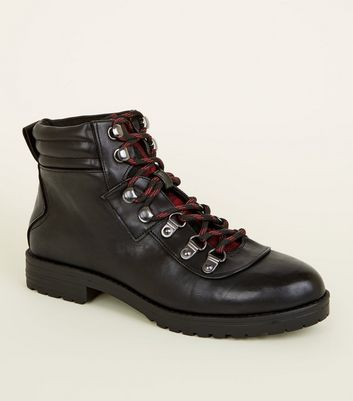 Girls Black Leather,Look Lace Up Boots Add to Saved Items Remove from Saved  Items
