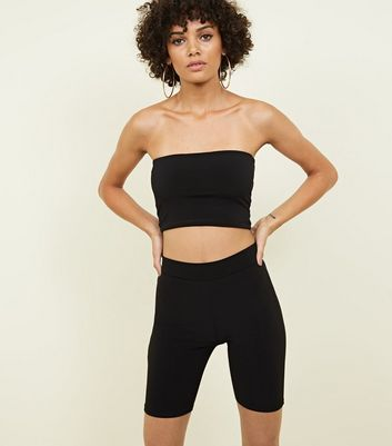 Black High Waist Cycling Shorts