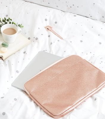 "Rose Gold Glitter 15"" Laptop Case"