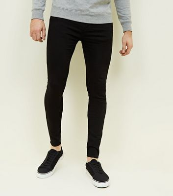 Black Spray On Super Skinny Jeans