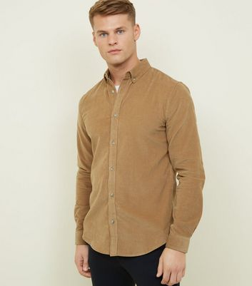 Stone Corduroy Long Sleeve Shirt