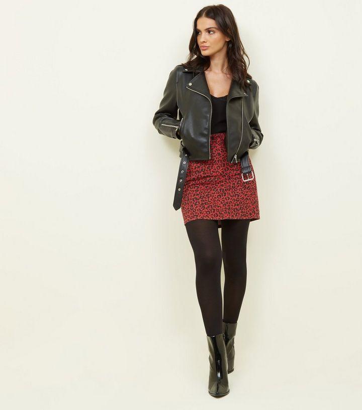 f2434cdf92 Red Leopard Print Mini Skirt | New Look