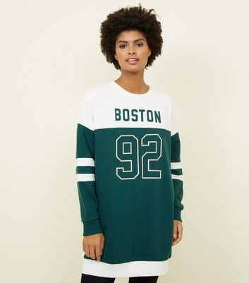 Green Boston 92 Longline Sweatshirt