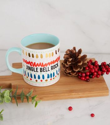 Multicoloured Jingle Bell Slogan Christmas Mug