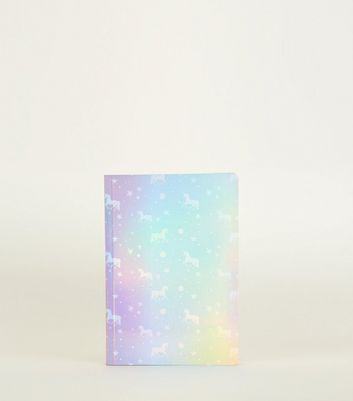 Multicoloured Holographic Unicorn A5 Lined Notebook
