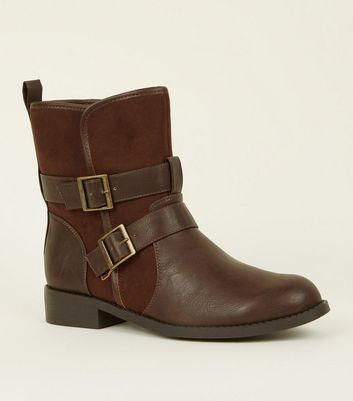 Brown Borg Lined Biker Boots