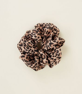 Brown Leopard Print Scrunchie by New Look