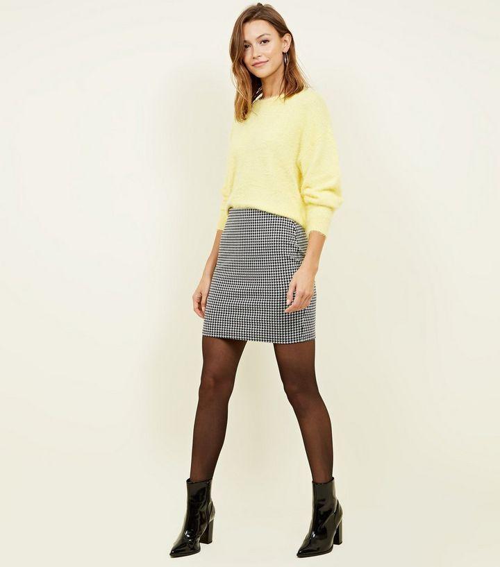 dc16aa23c2c9 ... Black Houndstooth Tube Mini Skirt. ×. ×. ×. Shop the look
