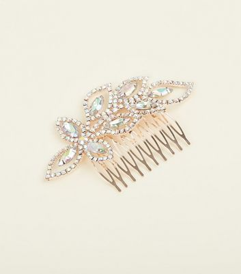 Rose Gold Gem and Diamanté Embellished Hair Comb