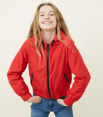 Red Ring Zip Padded Windbreaker