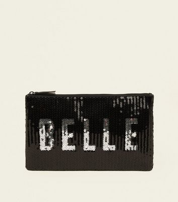 Black Belle Sequin Clutch Bag