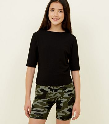 Girls Camo Cycling Shorts