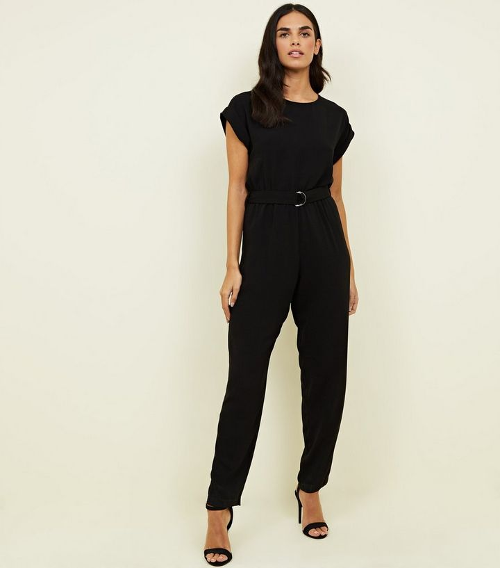 0e430997a503 Black D-Ring Belted Jumpsuit