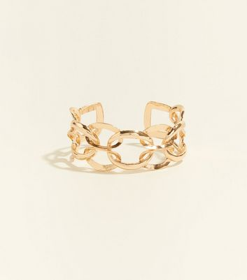 Gold Chain Linked Cuff