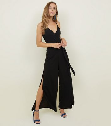 AX Paris Black Split Leg Jumpsuit
