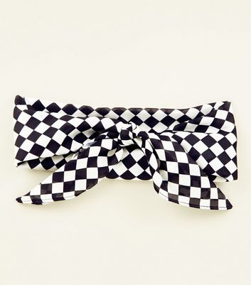 Black and White Checker Board Bandana