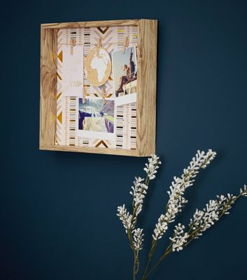 Brown Wood Framed Aztec Peg Board