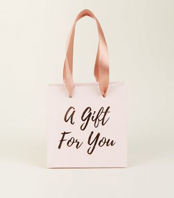Rose Gold For You Slogan Gift Bag