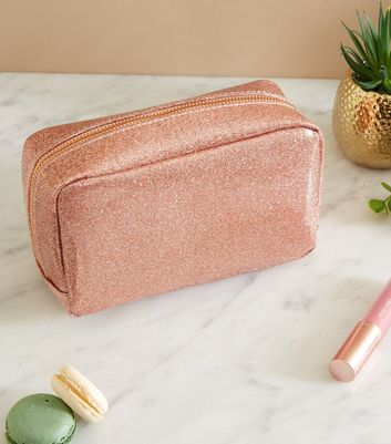 Rose Gold Glitter Make-Up Bag