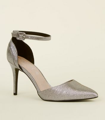 silver glitter shoes new look