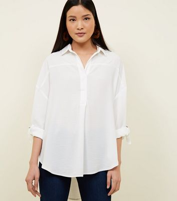 Off White D-Ring Sleeve Overhead Shirt