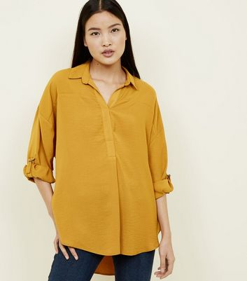 Mustard Yellow D-Ring Sleeve Overhead Shirt