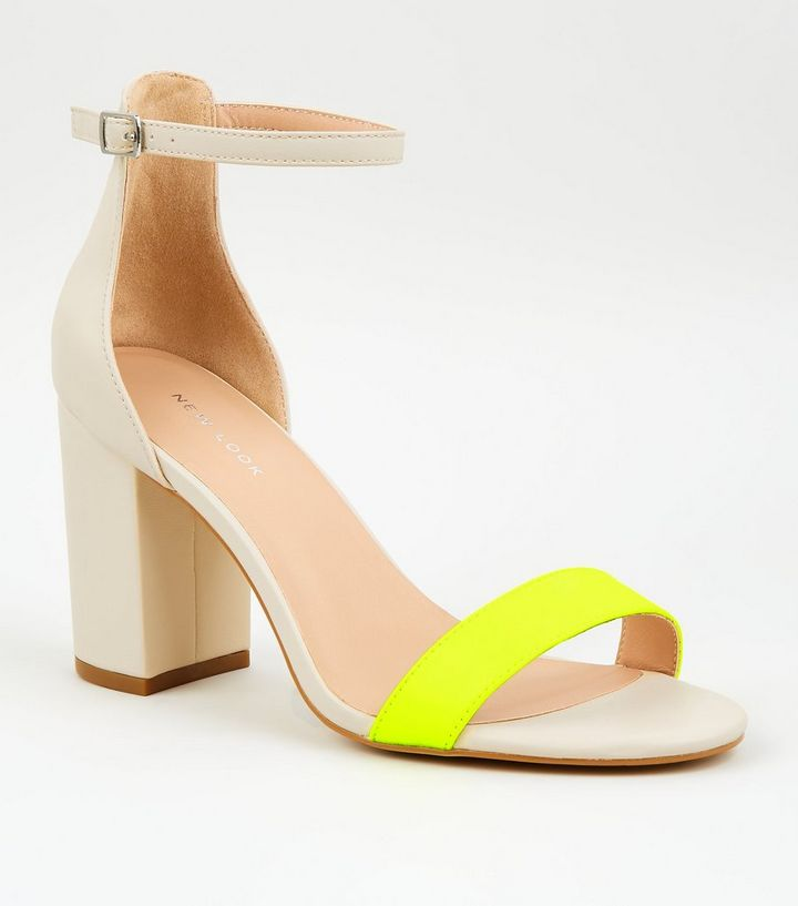 2e2a79a95c9 Green Faux Croc Block Heel Sandals