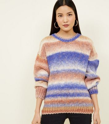 Purple Ombré Stripe Jumper