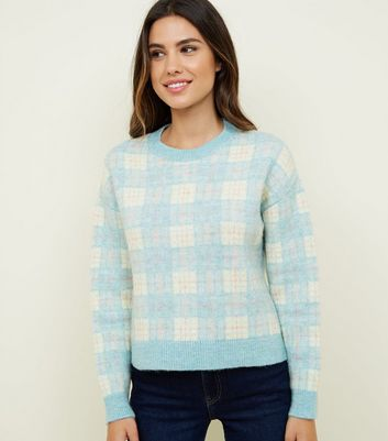 Pale Green Pastel Check Jumper