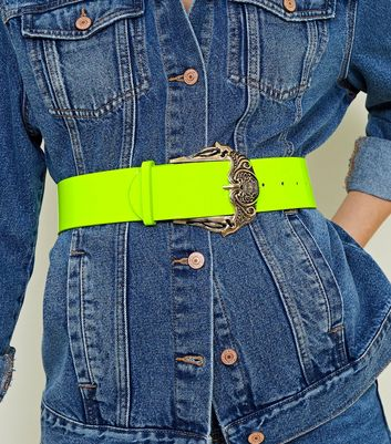 Green Neon Oversized Buckle Belt