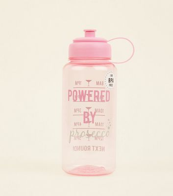 | Pink Powered By Prosecco 1ltr Water Bottle New Look | Goxip