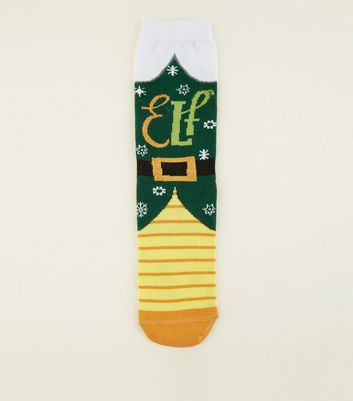 Green Elf Christmas Socks