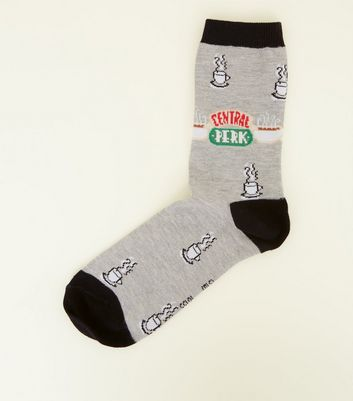 Grey Central Perk Friends Socks